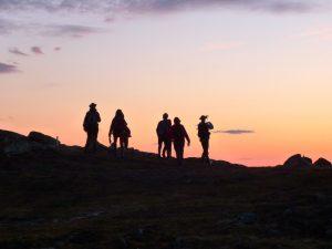 Midsommarnatt-vandring till Ansätten med Föreningen Blomsterleden. Foto © Rut Magnusson