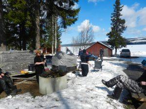 Skoterliv i vårvintern i Ansättfjällen. Foto © Mats Skoter.